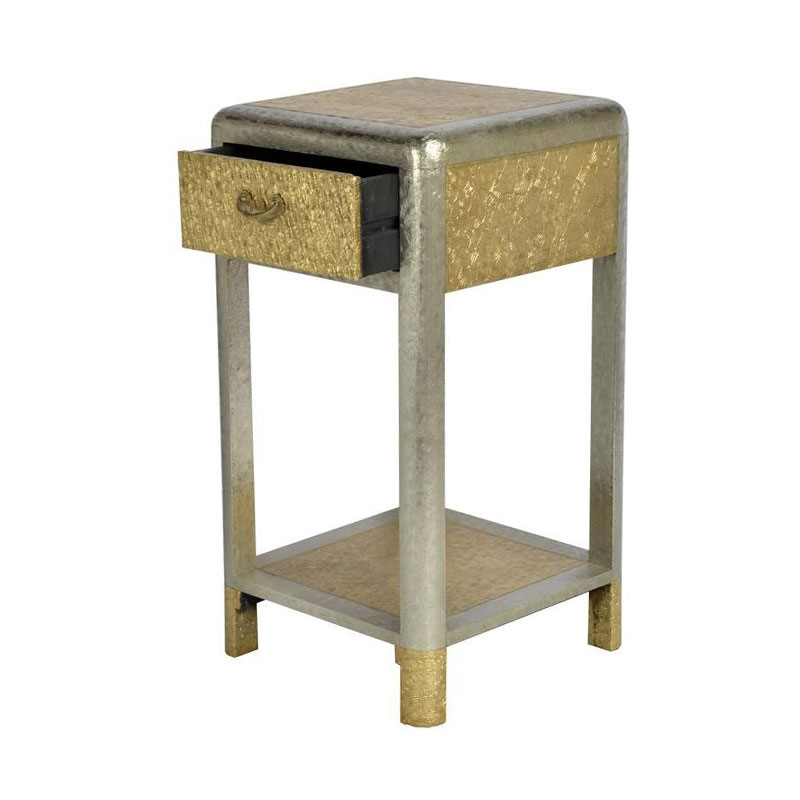 Glow Homes End Table with Drawer - Golden Finish